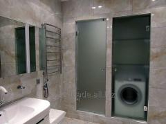 Shower partitions from glass
