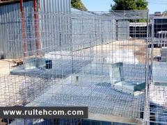 Cages for rabbits, quails. A grid for cages. Custi