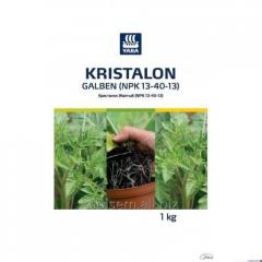 Security measure of Plants Kristalon Zhelty (NPK 13-40-13)