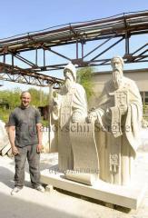 Скульптура Святых Кирилла и Мефодия.