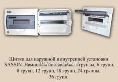 Распределительный щит внутренней установки  Sassin 3SD5-12