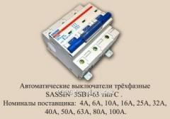 Выключатель автоматический Sassin 3SB1-100