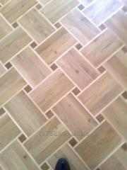 Parquet from a natural tree