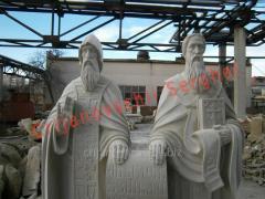 Скульптура Св Кирилл и Мефодий Высота 220 метра. Монумент.