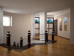 Ограждение для лестницы в доме мод AS02