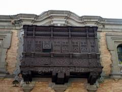 Decorative protection of a balcony of fashions of