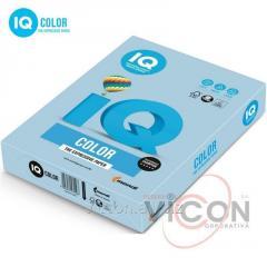 Бумага цветная IQ Color А4, 80г/м2, OBL70, голубой