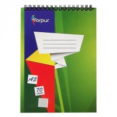 Блокнот для записей А5, FORPUS, 70 листов, спираль