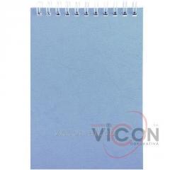Блокнот А5, синяя обложка, 40 листов, на спирали