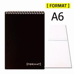 Блокнот для записей А6, FORMAT, 48 листов,