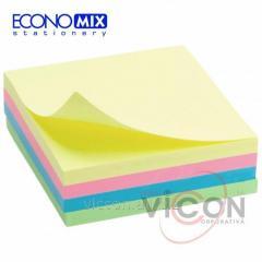 Стикеры Economix, 75х75, 4 пастельных цвета, 400л.
