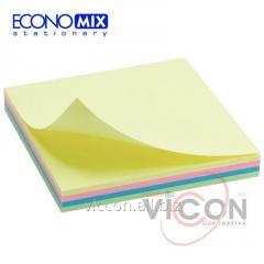 Бумага для заметок с липким слоем, 4 цвета, 100