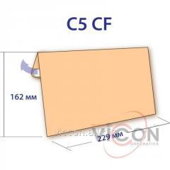 Конверт C5, крафт бумага, с отрывной силиконовой