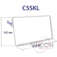 Конверт C5, с отрывной силиконовой лентой, 162 х