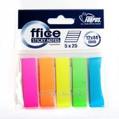Стикер-закладка, 5 цвета по 25 пластиковых