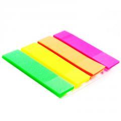 Sticker bookmark, 4 colors on 40 plastic leaves,