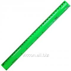 Линейка неоновый пластик, 30 см