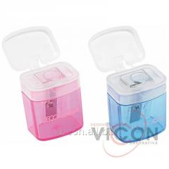 Sharpener plastic with the container, allsorts,