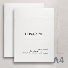Папка картонная БЕЗ скоросшивателя, картонная, А4