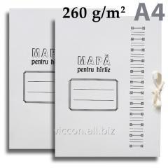 Папка картонная на завязках, А4, 260 gr/m2