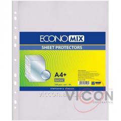 Файлы глянцевые, А4+, ECONOMIX, 100 шт. 30 mkm.