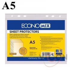 Файлы матовые, А5, ECONOMIX, 100 шт., 30 mkm.
