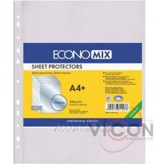 Файлы глянцевые, А4+, ECONOMIX, 100 шт., 40 mkm.