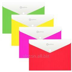 Папка-конверт на кнопке, c расширением, A4,