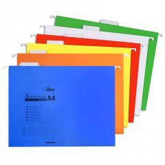 Файл подвесной с индикатором, картонный, А4,