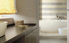 Ceramic tile for a bathroom and kitchen of Cisa