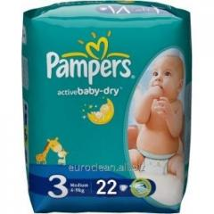 Children's Pampers Active Baby 3 diapers