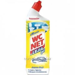 Gel for cleaning of a toilet bowl of WC NET Bleach