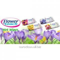 Wet towel wipes of Papilion Flower of 15 pieces