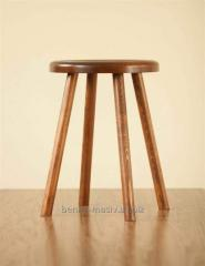 Stool from the massif of an oak