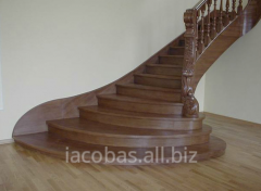 Ladders wooden, ladder marches and balustrades,