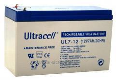 Accumulator, UltraCell UL 7-12 (12V7AH 20HR)