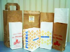 Paper packages from a kraft paper