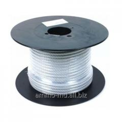 Rope steel in a plastic cover of PVC 2mm/1,8mm