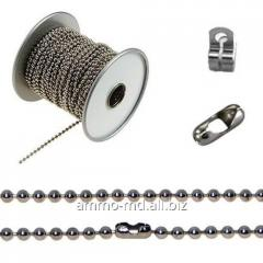 Chain decorative - ball - d-3,6mm serebr.