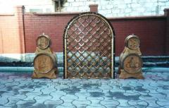 Compartment for wine decorative