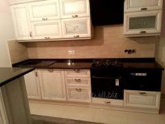 Kitchen countertop of gabbro, length 3 meters