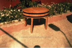 The little table is wooden decorative
