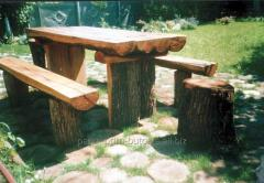 Table garden wooden