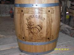 Barrel decorative wooden
