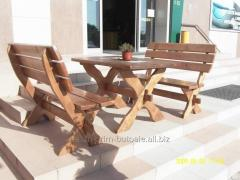 Terrace furniture wooden