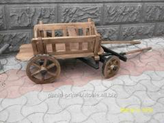 The cart is wooden decorative