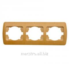 Рамка 501 227 Zirve (белый) 3 Артикул 25.239
