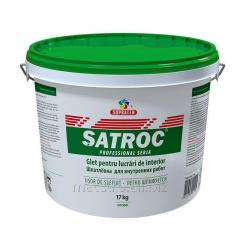 Hard putty for internal works of Satroc of 17 kg