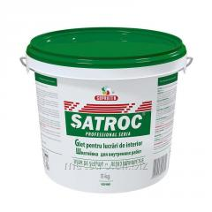 Hard putty for internal works of Satroc of 5 kg