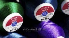 Нитки из трилобал полиэфирного волокна для машинной вышивки Coats Sylko